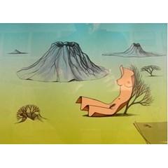 Obrázek Jaro v krajině s vulkány